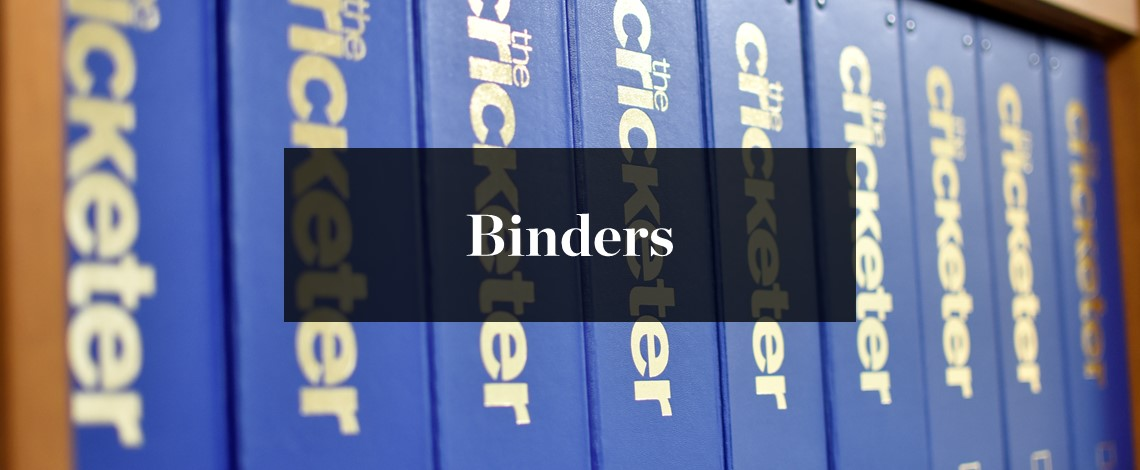 The Cricketer binders