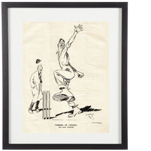 Classic Cricketer Prints - The Fast Bowler