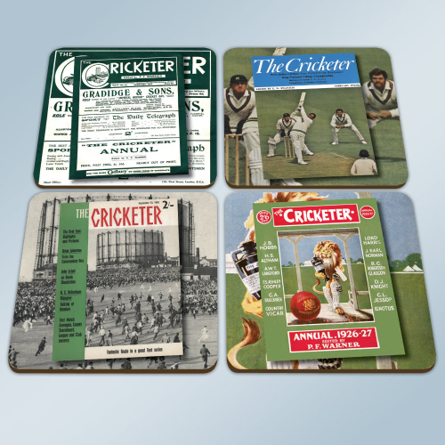 The Cricketer Coasters - Set of 4 with box