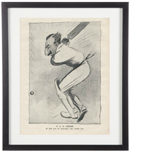 Classic Cricketer Prints - Percy Fender