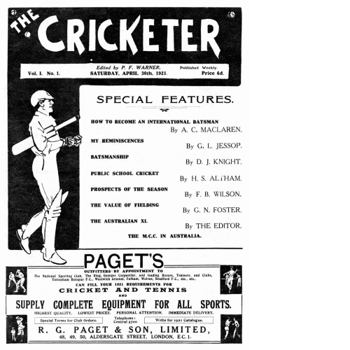 The Cricketer First Issue